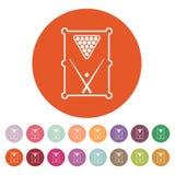 Symbolen för billiardtabell modigt model symbol för överdängare 3d plant Royaltyfri Illustrationer