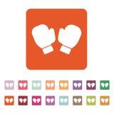 Symbolen för boxninghandskar modigt model symbol för överdängare 3d plant Royaltyfri Illustrationer