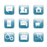 Symbolen för internet-shoppar stock illustrationer