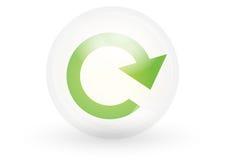 symbolen förnyar vektorn Fotografering för Bildbyråer