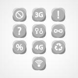 Symbolen geplaatst Webpictogram Stock Foto