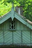Symbolen op Roemeens huis stock foto