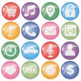 Symbolen ställde in för mobil ansökningsomgångtyp stock illustrationer