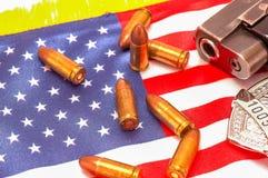 Symbolen van Amerikaanse politie Royalty-vrije Stock Fotografie
