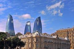 Symbolen van Baku, Azerbeidzjan Stock Afbeeldingen