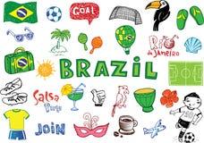 Symbolen van Brazilië royalty-vrije illustratie