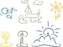 Symbolen van christendom vector illustratie