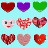 Symbolen van de Dag van Valentine ` s stock illustratie