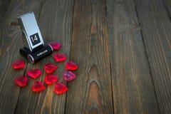 Symbolen van de Dag van Valentine ` s Stock Afbeeldingen