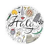 Symbolen van Italië Stock Afbeelding