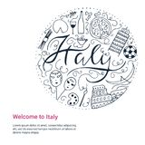 Symbolen van Italië Stock Afbeeldingen