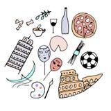 Symbolen van Italië Stock Foto's