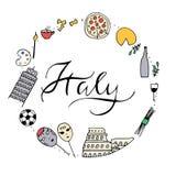 Symbolen van Italië Royalty-vrije Stock Afbeelding