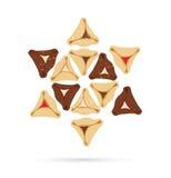 Symbolen van Joodse vakantie purim Het ontwerp van Infographics royalty-vrije illustratie