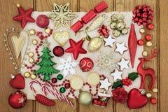 Symbolen van Kerstmis Stock Afbeelding