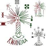 Symbolen van Kwanzaa royalty-vrije illustratie