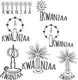 Symbolen van Kwanzaa vector illustratie