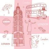 Symbolen van Londen Stock Afbeeldingen