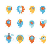Symbolen van menselijke meningsstaten Royalty-vrije Stock Afbeelding