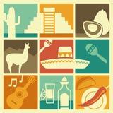 Symbolen van Mexico vector illustratie