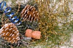 Symbolen van Nieuw jaar. Stock Foto