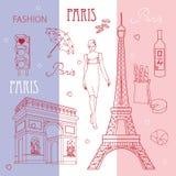 Symbolen van Parijs Royalty-vrije Stock Afbeelding