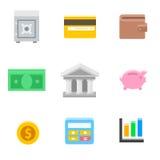 Symbolen van Zaken en Financiën Stock Afbeelding