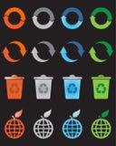 symboler återanvänder seten Fotografering för Bildbyråer