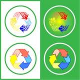 symboler återanvänder vektorn Royaltyfria Bilder