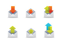 symboler 1 postar qicon Arkivfoton