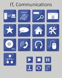 Symboler IT Arkivfoto