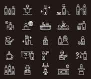 Symboler av aktivt folk och yrken arkivfoton