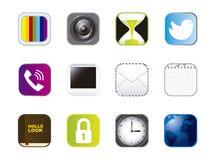 Symboler av apps vektor illustrationer