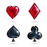 Symboler av att spela kort Royaltyfria Bilder