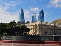 Symboler av Baku, Azerbajdzjan Fotografering för Bildbyråer