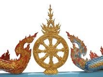 Symboler av buddism, buddismarkitektur Arkivfoton