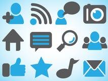 Symboler av det sociala nätverket royaltyfri illustrationer