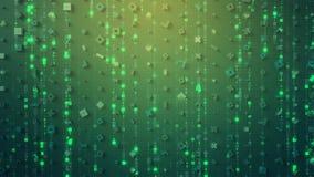 Symboler av digitalt FÖRHÄXER tolkningen för datorkoden 3D vektor illustrationer