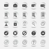 Symboler av dokument och post Arkivfoto