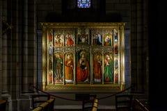 Symboler av domkyrkan av Monaco Arkivbild