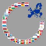 28 symboler av europeisk union Arkivfoton