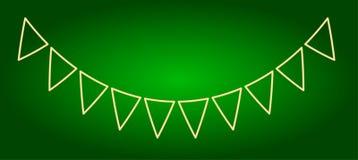 Symboler av ferieflaggor Ferie Ugadi fina linjer Arkivfoton