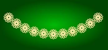 Symboler av girlander av blommor Ferie Ugadi Arkivfoto