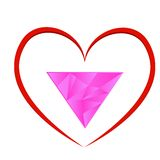 Symboler av homosexualitet stock illustrationer