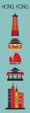 Symboler av Hong Kong Arkivfoton