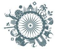 Symboler av Indien royaltyfri illustrationer