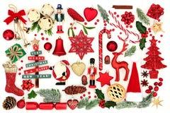 Symboler av jul royaltyfri foto