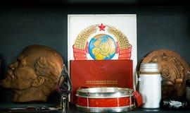 Symboler av kommunism Arkivbild