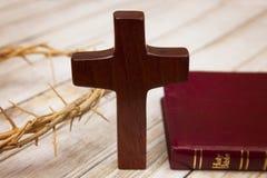 Symboler av kristendomen arkivbild