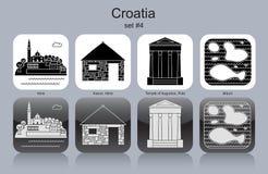 Symboler av Kroatien vektor illustrationer
